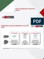 Resultados de La Evaluacion Censal 2015 a Nivel Nacional