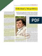 Felicidad y Biopolítica