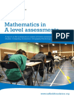 Maths in a Level Assessments Nuffield Foundation WEB