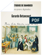 2 ESTUDIOS DE BAMBUCO. Para piano. Por Gerardo Betancourt.