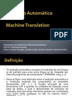 Seminário - Tradução Automática