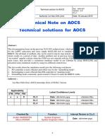 CubeSat Design Bleeping Interplanetary Radiations Determination Yo-yo (BIRDY) - AOCS Subsystem-report