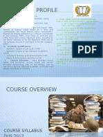 Course Overview Dus2072 2015