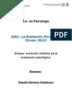 Herrera Gutierez Daniel, Ensayo Antecedentes Hitoricos