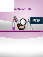 cosmetics template ppt