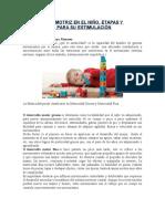 Desarrollo Motriz en El Niño, Etapas y Sugerencias Para Su Estimulación