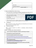 Computer Networks course handout