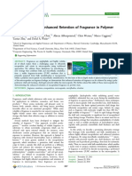 Encapsulation and Enhanced Retention of Fragrance in Polymer