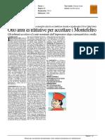 Otto anni di trattative per accettare i Montefeltro - Il Resto del Carlino del 12 marzo 2016