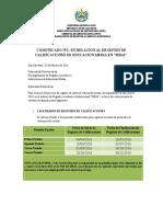 Comunicado n2 Registro de Notas 2016