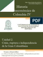 Unidad 2 Crisis, Ruptura e Independencia de La Gran Colombiana