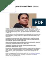 Farhat Mengakui Kembali Sindir Jokowi Yolla
