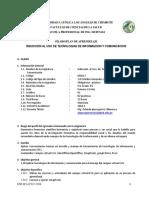 Induccion Al Uso de Tic - Esc. Ing. Sistemas