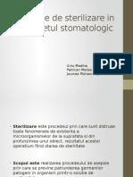 Metode de Sterilizrae in Cabinetul Stomatologic