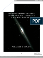 Personal Random Thoughts on 2008 National Conference for Science Educators by Periander A. Esplana