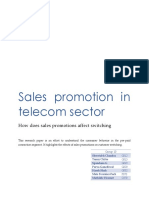sales promotion in telecom industry