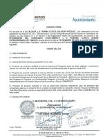 Convocatoria a la Viguésimo  Vuartea Sesión de Cabildo del R. Ayuntamiento de Matamoros