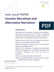 Counter Narratives and Alternative Narratives