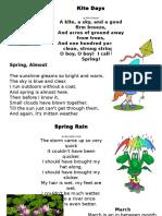 Poezii de Primavara in Engleza