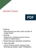 Empiema Thorax - Kuliah Bedah UI