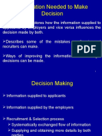 Information Needed to Make Decision
