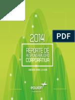 Reporte de Responsabilidad Corporativa Equion Energia Limited 2014