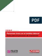 """Guía """"Personas trans en el ámbito laboral. Guía para el proceso de transición"""""""