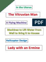 Leonardo Da Vinci Labels