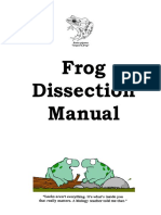 frog dissection manual