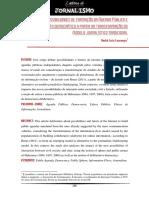 LOURENÇO, A.L.. Novas Possibilidades de Formação Da Agenda Pública e Incremento Democrático a Partir Da Transformação Do Modelo Jornalístico Tradicional