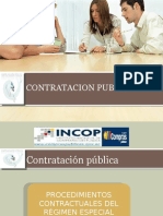Procedimientos Contractuales Del Regimen Especial