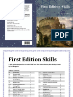 OSRIC First Edition Skills