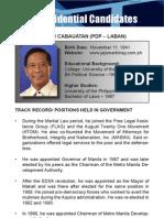 [Philippine Elections 2010] Binay, Jojo