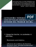 Categorias Teoategorias teorias y conceptuales basicas en el estudio del trabajo socialrias y Conceptuales Basicas en El Estudio Del Trabajo Social