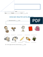 Activity Book Granny Fixit and the Yellow String (English 1)