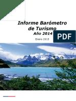 Informe Barómetro de Turismo Año 2014 2