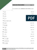 Ejercicios de Fraciones 1