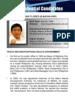 [Philippine Elections 2010] Fernando, Bayani