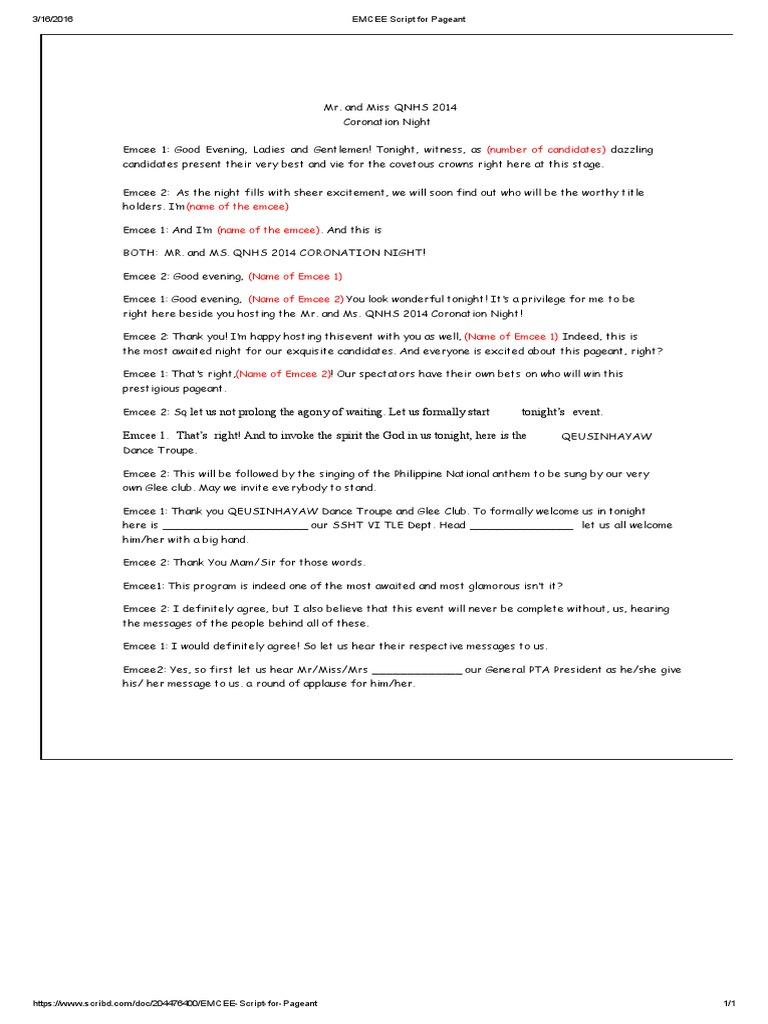 master of ceremony script for seminar