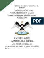 Silabo Farmacologia Obstetricia