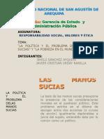 Diapositiva Las Manos Sucias y La Pobreza Mundial