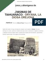 La Diosa Orejona y Alienígena de Tiahuanaco