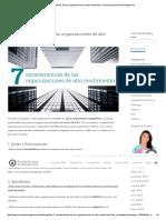 Las 7 Características de Las Organizaciones de Alto Rendimiento - Escuela Europea de Management
