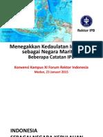 Menegakkan Kedaulatan Indonesia Sbg Negara Maritim (Rektor IPB)