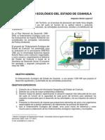 Ordenamiento Ecologico Del Estado de Coahuila