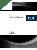 Manual Del Usuario Del Sistema Basico de IBM SPSS 20