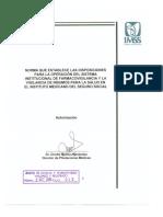 Norma Oficial Farmacovigilancia