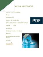 La Etica Ecologica y Las Alternativas
