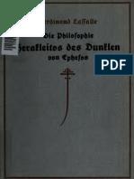 Lasalle, Ferdinand - Die Philosophie Herakleitos Des Dunklen Von Ephesus Bd.1
