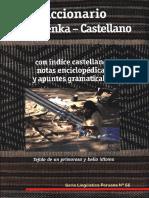 Diccionario Matsigenka - Castellano 1